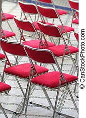 Red chairs - Red empty chairs