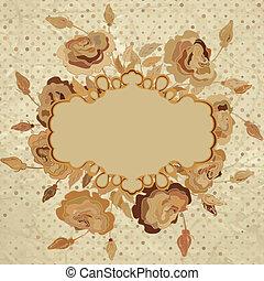 Romantic vintage beidge with flowers. EPS 8 - Romantic...