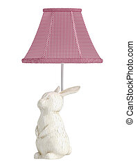 Bunny rabbit lamp - Ceramic bunny rabbit lamp with a pretty...