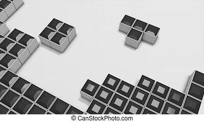 3d tetris - Conceptual 3d tetris animation.