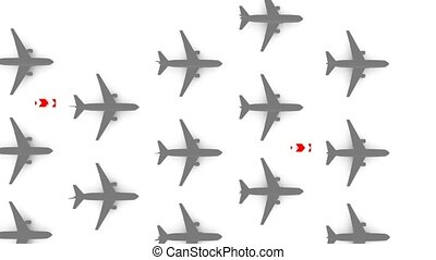 Airlines - Background animation, airliner theme.
