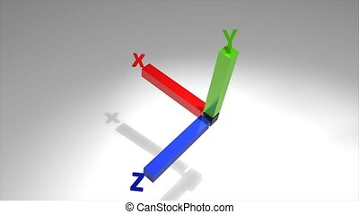 3d axis - concept animation, 3d axis.