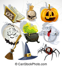 Halloween related objects