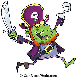 Pirate Zombie  With A Sword