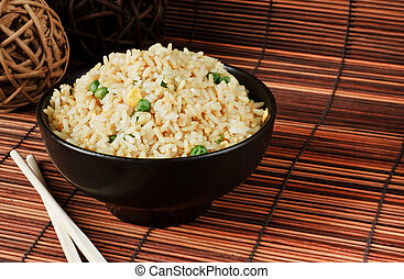 egg fried rice - Bowl of egg fried rice an excellent side...