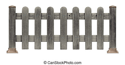 Picket Fence Grunge - Picket fence made of old grunge...