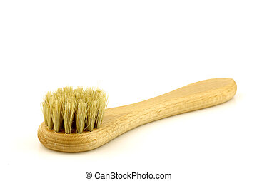 wooden shoe polishing brush