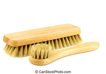 wooden shoe polishing brushes