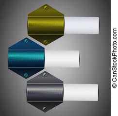 Reflected vector metallic sticker c