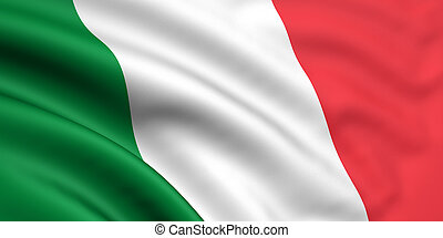 Flag Of Italy - 3d rendered and waving flag of italy