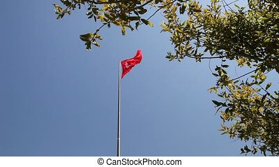 Turkish Flag - sfenks kaya, Gelibolu, Kanl%u0131s%u0131rt,...