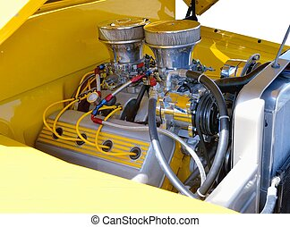 Customized Pickup truck engine - classic pickup truck...