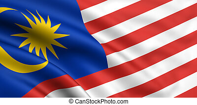 Flag Of Malaysia - 3d rendered and waving flag of malaysia