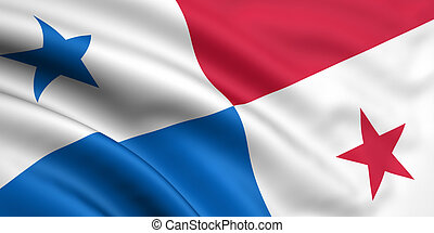 Flag Of Panama - 3d rendered and waving flag of panama