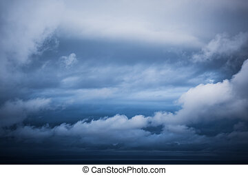 Clouds - The dramatic sky of Mosselbay is showing