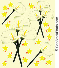 Stock Illustration - flower stool