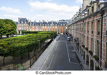 View from the window of the Victor Hugo's House - The view...