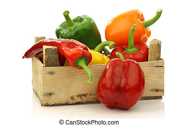 colorful bell peppers(capsicum)