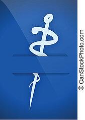 medical symbol on a pocket