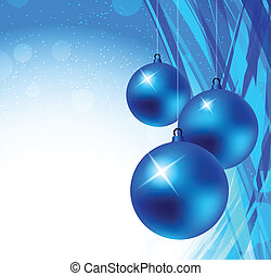 Xmas background - Bright blue xmas background. Abstract...