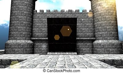 Castle drawbridge - Medieval castle.