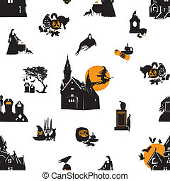 Seamless background with Halloween
