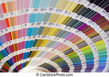 Color palette, used for design and work