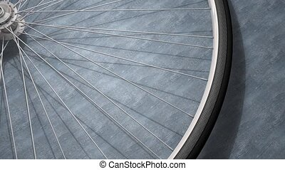 Bicycle wheel - Close-up bicycle wheel spinning