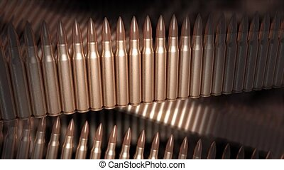 Bullets - Abstract bullet animation, 556mm bullets