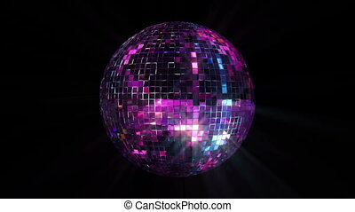Disco Mirror Ball Loop - 3D mirror ball reflecting real...