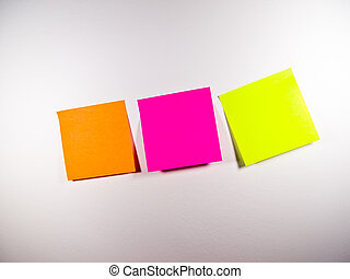 Colorful post-it Title