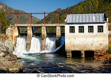 Chemal hydroelectric power plant - View at hydroelectric...