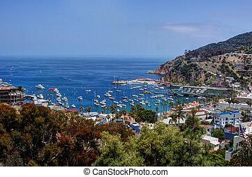 Moored Yachts Santa Catalina Island - Yachts & sailboats...