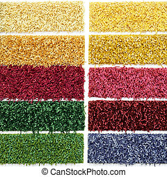 Carpet picker - Palette of carpet material patterns for...