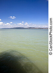 Balaton - Lake Balaton from a ship at Balatonkenese