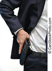 homem, arma
