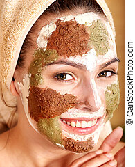 Natural homemade clay facial masks . - Natural homemade clay...