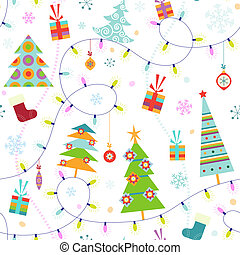 Seamless christmas pattern - Christmas seamless pattern with...
