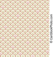 Scale Pattern in Pink - Classic fish scale pattern in a...