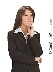 Businesswoman thinking - Image of a young business woman...