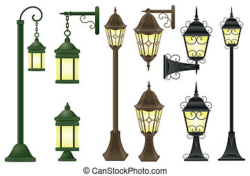 streetlight vector illustration isolated on white background