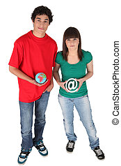 Teenagers using Internet social networks
