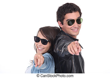 Teen with sunglasses