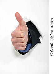 hand making a thumbs up sign