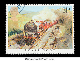 Royal Scot - Mail stamp printed in the UK featuring the...