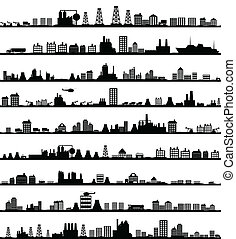 City landscape5 - Collection of city landscapes A vector...