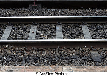 Railway for train transportation - Close up railway for...