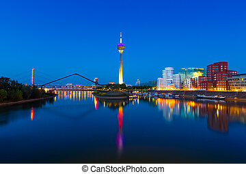 Dusseldorf, Germany - Panorama of Dusseldorf, Germany