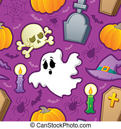 Halloween seamless background 3 - vector illustration.
