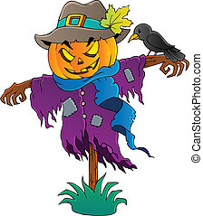 Halloween scarecrow theme image 1 - vector illustration